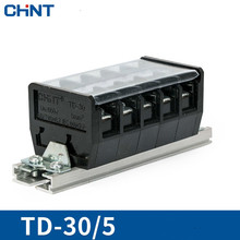 CHNT Guide Type Wire Connector 30A 5 Position Connection Row Terminal Plate TD-30/5 Solder Seal Heat Shrink Butt