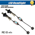 Pair H4 Led Hi/Lo H4-3 Car Headlight 12W 6800LM 6000K Xenon White Auto Head Lamp Fog Light Conversion Kit Replace HID lamp