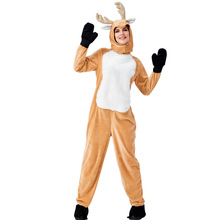 New Arrival Reindeer Costume For Women Adult Animal Cosplay Jumpsuit Suit Halloween Christmas
