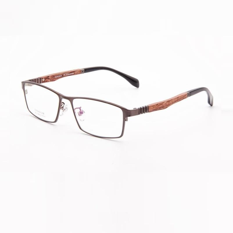 57-16-142 полный кадр ультра-легкие чистого Titanium очки кадр мужские деловые твердой древесины зеркало ноги быть оснащен линзы 99003