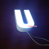 Outdoor 3D Epoxy Resin Led Lighted Sign Illuminated Channel Letters