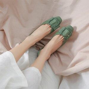 Image 4 - Fedonas 2020 봄 여름 품질 정품 가죽 여성 펌프 하이힐에 얕은 슬립 파티 웨딩 사무실 신발 여자