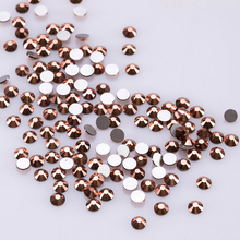 Crystal Rhinestone For Nails Art Rose Gold Non Hotfix Flatback Rhinestones Round Glass Shapes C104