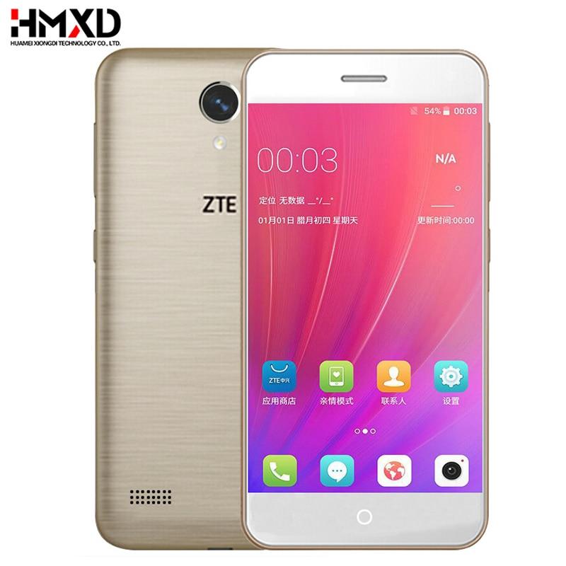 Original ZTE Blade A520 Mobile Phone 2G RAM 16G ROM 5.0 inch Dua Kartu SIM Front & Back Camera Quad Core 720P Android 6.0