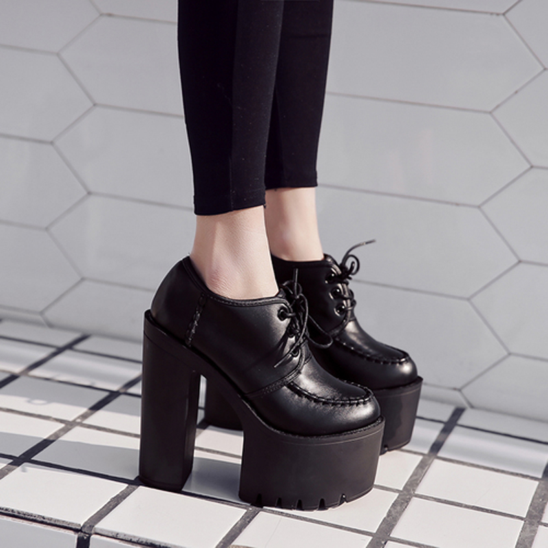 Bombas Del Las Primavera Tacones Mujeres Gruesos De Mujer Banquete Lace Black Zapatos 2018 Boda Up Señoras Plataforma Cómodo Altos Otoño wZq0Bq6