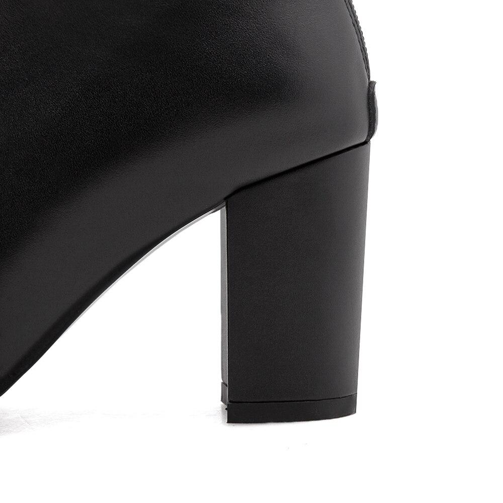 Balck Carré Leather Black Talons Genou Orteil Automne Femme Suede Furtado Hiver Cm Dames Chunky Daim De Bottes Zipper Haute Chaussures Arden 6 black Mode 2018 1TcqvwBwAF
