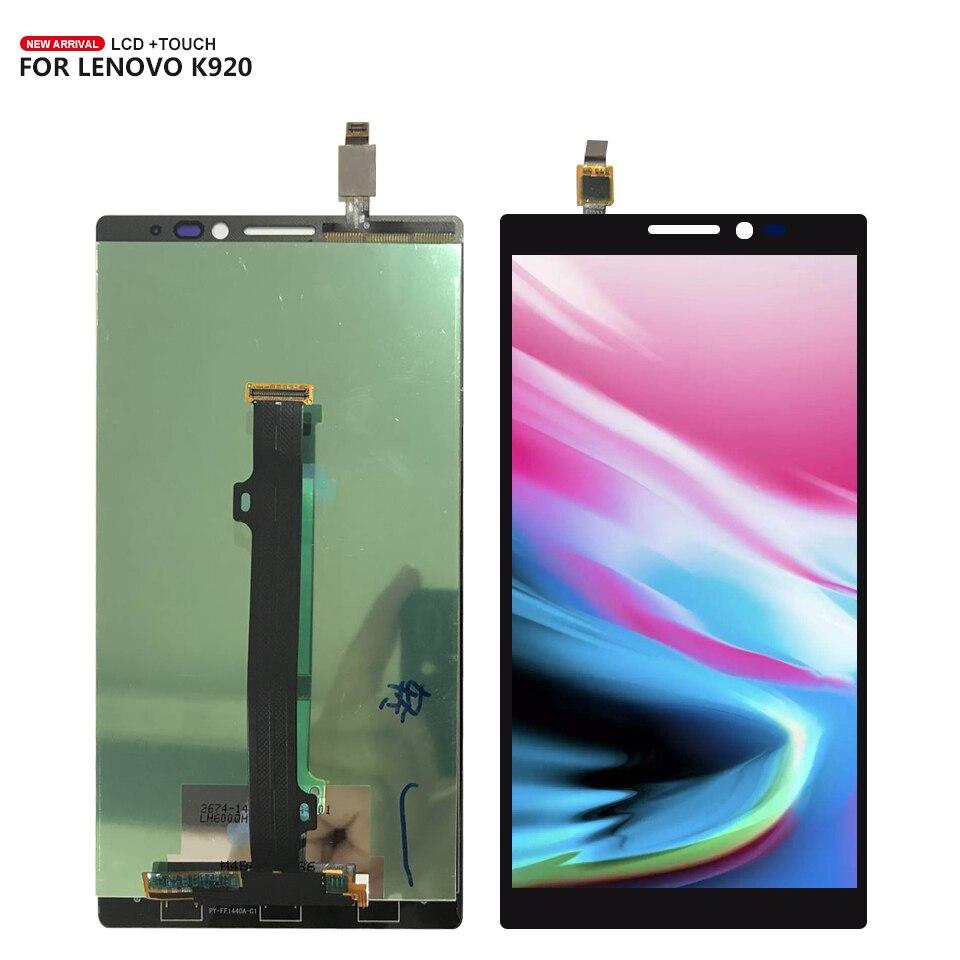 6,0 для lenovo Vibe Z2 Pro K920 Сенсорный экран планшета ЖК-дисплей Дисплей сборки черный Цвет Бесплатная доставка