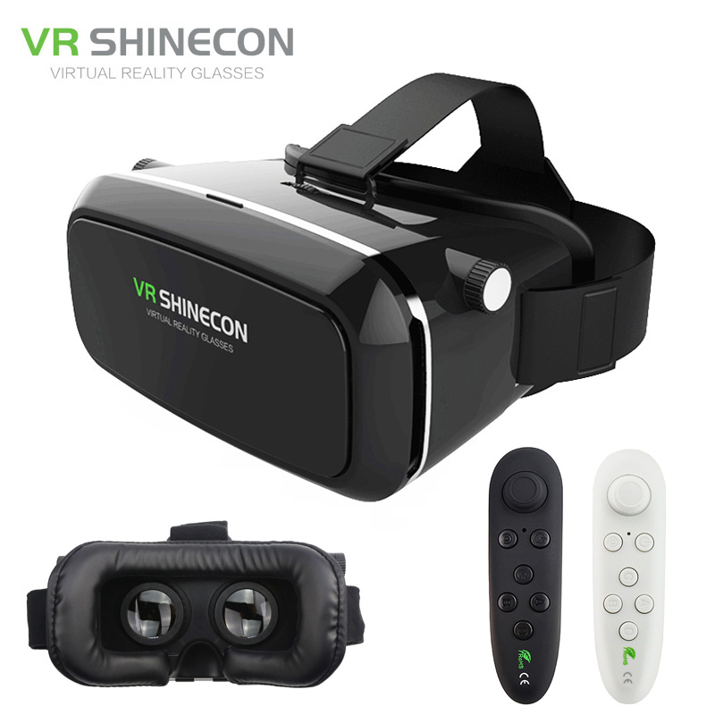 <font><b>VR</b></font> <font><b>Shinecon</b></font> Pro Virtual Reality 3D <font><b>Glasses</b></font> <font><b>VR</b></font> Google Cardboard Headset Head Mount for Smartphone 4-6' + <font><b>Remote</b></font> Control