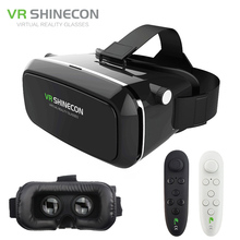 Original VR Shinecon 3D Glasses Pro Virtual Reality VR Google Cardboard Headset Head Mount for Smartphone 4-6′ + Remote Control