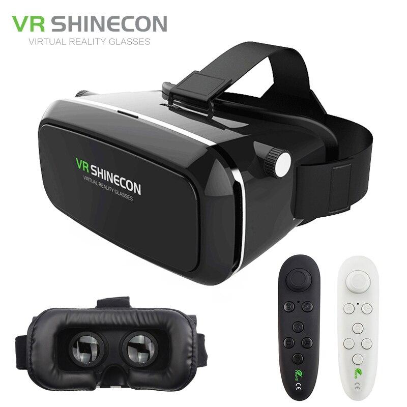 Original Óculos Pro Realidade Virtual VR VR Shinecon 3D Google Papelão fone  de Ouvido Cabeça de Montagem para Smartphone 4 6  + Remoto controle em  Óculos ... 8c861cb98f