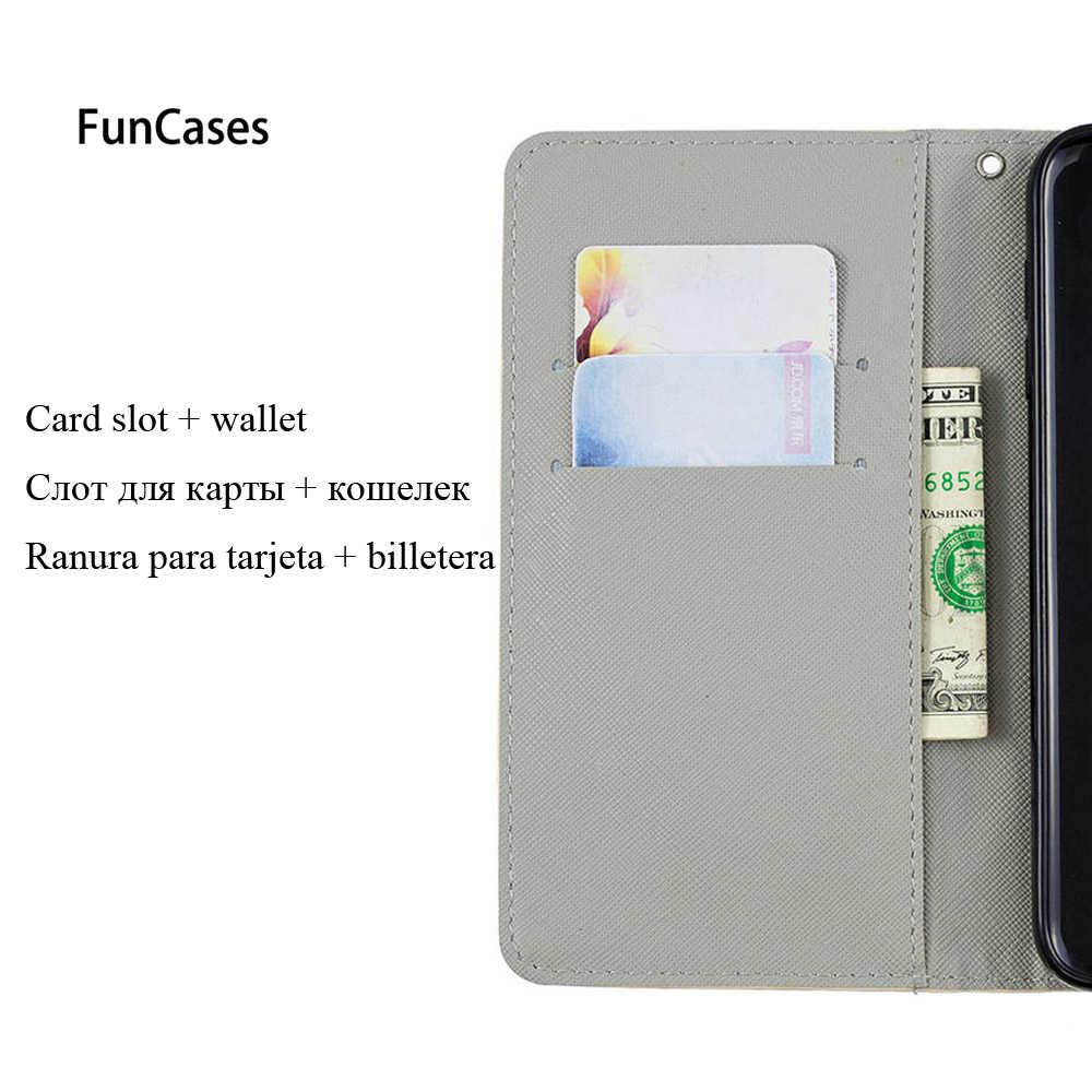 3D libro Flip cubiertas para HUAWEI P9 Lite Mini SLA-L22 SLA-L02 de la PU caso para HUAWEI P9Lite Mini 16 GB los casos de cartera TPU carcasa completa