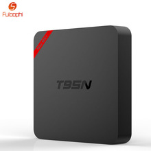 Fuloophi Android TV Box Amlogic S905X Octa Core Set-top Boxes 4K 2.4G Wifi Android 6.0 TV Receiver T95N Mini MX+ 1G+8G