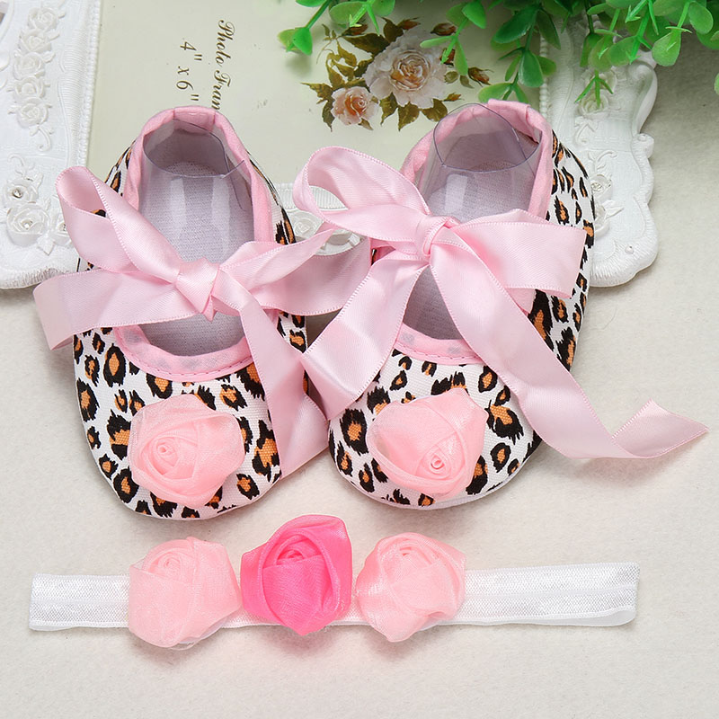 baptism baby girl shoes Headbands set aby Soft Crib Shoes Ballerina Crib Soft Sole walker shoesSoft Crib Shoes