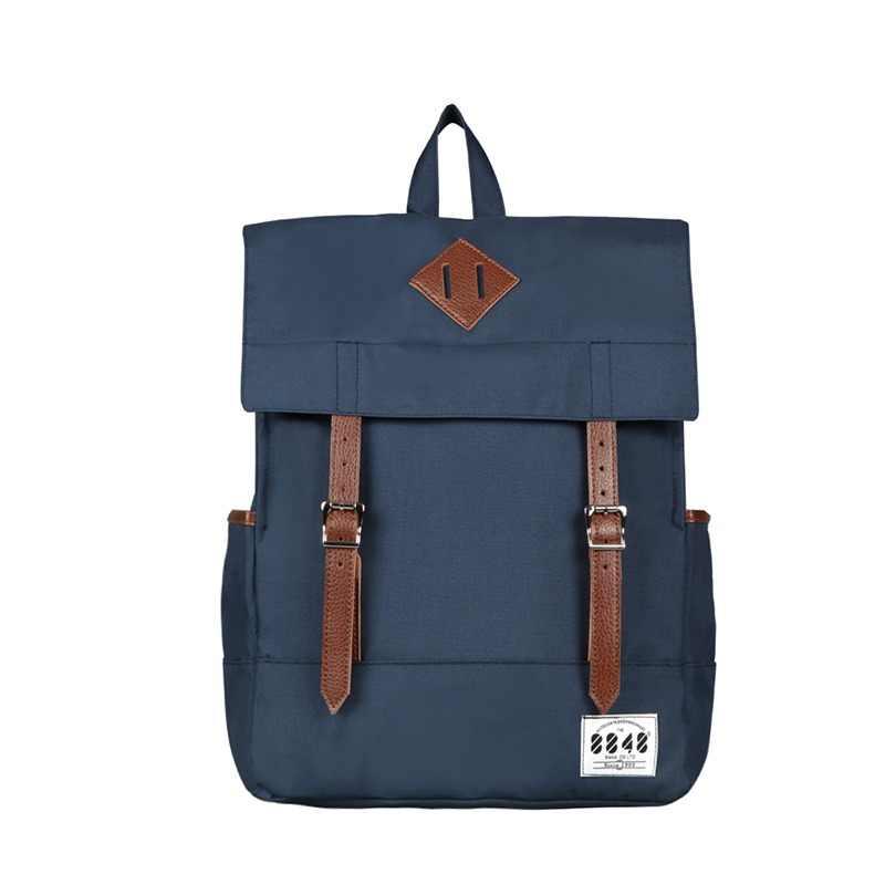 cd0219bb93e8 8848 Модный женский холщовый рюкзак синие водонепроницаемые школьные сумки  15,6 дюймов рюкзак для ноутбука