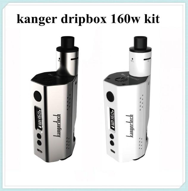 Kanger Dripbox 160 Вт Starter Kit питание от 2 шт. 18650 батареи 7 мл емкость имеет РБА включают MTL и DL