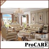 Conjunto de sofás para sala de estar  de madera tallada  estilo Barroco europeo de lujo