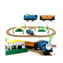 Hot Selling Cheap Thomas and Friends Electric Rail Car Toy Track Diecast for Kids Railway Trains Children Best Christmas Gift(China)
