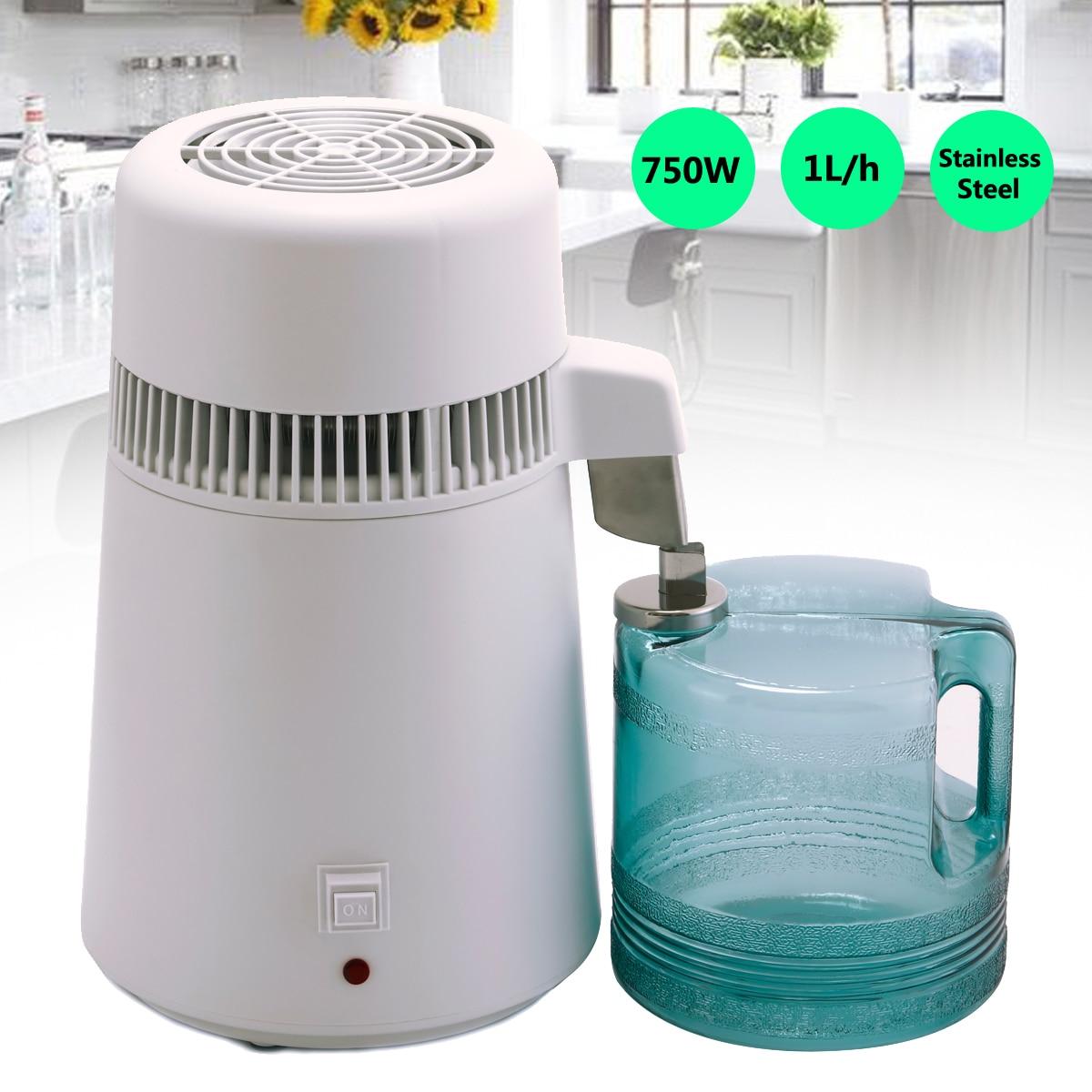 4L 750 W дома дистиллятор для чистой воды прибор для дистилляции воды очиститель дистиллятора Фильтрующее Оборудование зубные АС plug фильтр дл...