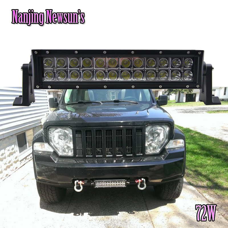 12Inch 12V 24V Led Work Light Bar Waterproof Spot Beam Worklight Lamp For Truck SUV ATV Offroad Car Motorcycle Boat 72W Spot nicoko 180w 32 curved led work light bar fog lamp spot lights for tractor boat offroad 4wd 4x4 truck suv atv combo beam 12v 24v