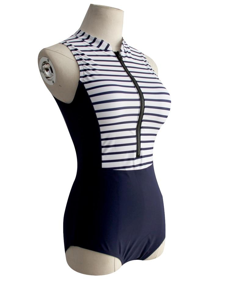 1d1e139b63fcc 2018 New Women One Piece Swimsuit Patchwork Monokini Zipper Open Biquini  Beach wear Long Torso Bathing Suit Sexy Thong Swimwear
