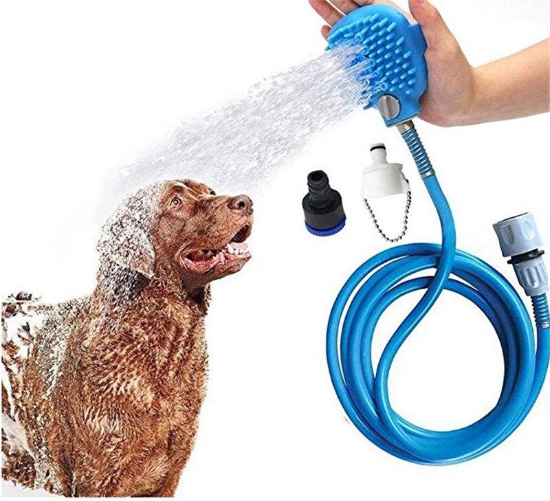 Собака инструмент для купания Душ для домашних животных опрыскиватель и щетка для купания домашних животных 2-в-1 обновлен душ для домашних ...