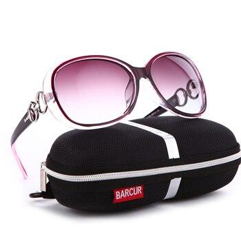 BARCUR New Polarized Sunglasses Women Brand Designer Female Sunglass Vintage Sun Glasses gafas oculos de sol masculino