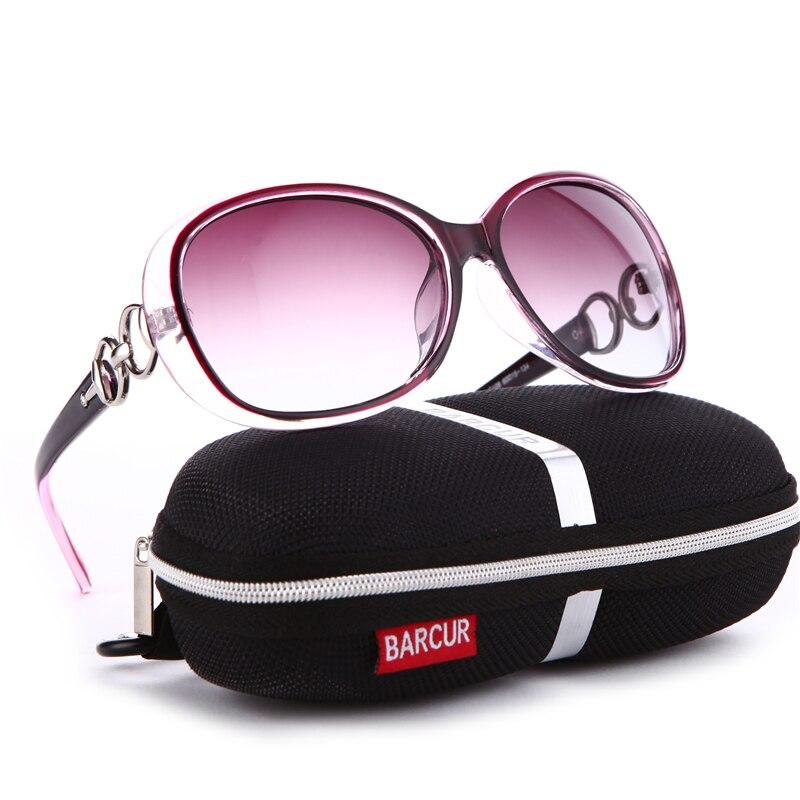 BARCUR nouvelles lunettes de soleil polarisées femmes marque concepteur femme lunettes de soleil Vintage lunettes de soleil gafas oculos de sol masculino