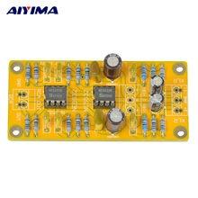 Aiyima atualizado xlr equilibrado para desequilibrado rca pré-amplificador fone de ouvido duplo op amp placa de circuito baixa distorção