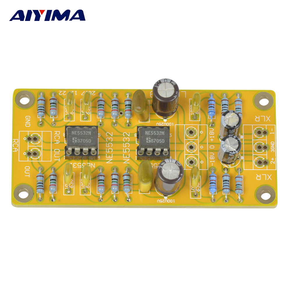 Aiyima Updated Balanced Xlr To Unbalanced Rca Pre Amplifier Head Phone Circuit Headphone Dual Op Amp Board Low Distortion In From Consumer Electronics On