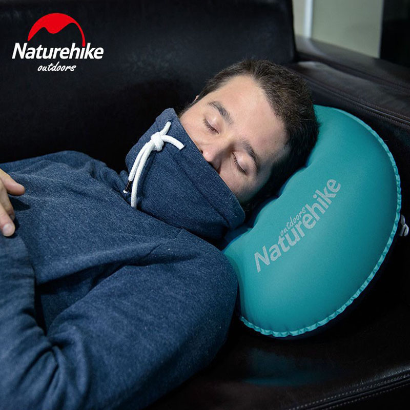 หมอนเดินทาง Naturehike Inflatable หมอนแคมป์ปิ้ง Sleeping Gear Fast แบบพกพา TPU NH17T013-Z 5