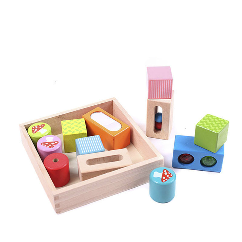 New Square Sense Block Building Wooden Toys Early Infant Educational and Learning Color Blocks Toy for Children high quality 50pcs classical and 52pcs forest animals wood building blocks toy bottled children educational wooden toy block
