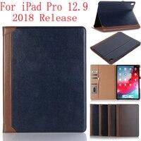 Für iPad Pro 12 9 Fall 2018 Release Magnetische Smart Flip Leder Buch Abdeckung Karte Paket Ständer Flip-Cover Schlaf Wake 12 9 zoll