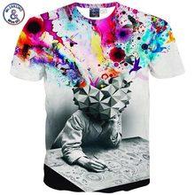 2017 Mr.1991INC HipHop Men/girls trend 3d T-shirt Rihanna Monroe Einstein Balloon printed Casual avenue T shirt Fashion