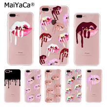 MaiYaCa Sexy Girl Kylie Jenner Lips Kiss Fashion Fun Dynamic phone case for iphone 11 pro 8 7 66S Plus X 10 5S SE XR XS XS MAX(China)