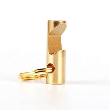 2018 Popular Mini EDC Tool Gold Color Durable Copper Keychain Bottle Opener Key Holder Key Ring LX3922