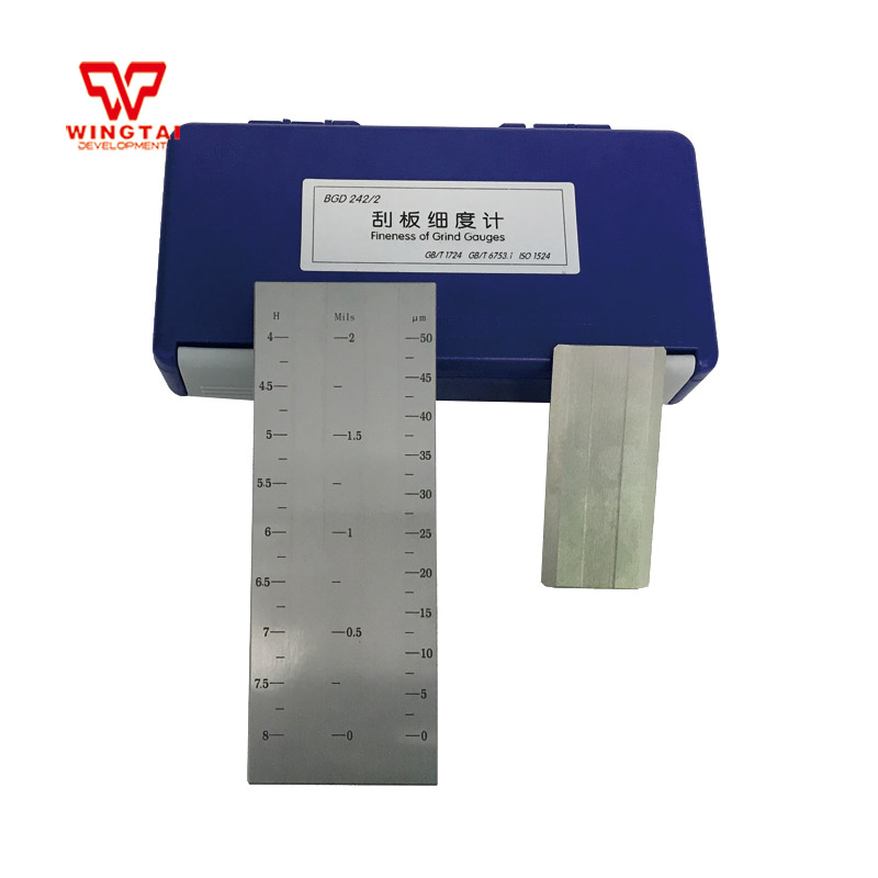 50um Scraper Fineness Test Double Groove Fineness Gauge 2.5um Division Value Scraper Fineness Grindometer BGD242/250um Scraper Fineness Test Double Groove Fineness Gauge 2.5um Division Value Scraper Fineness Grindometer BGD242/2