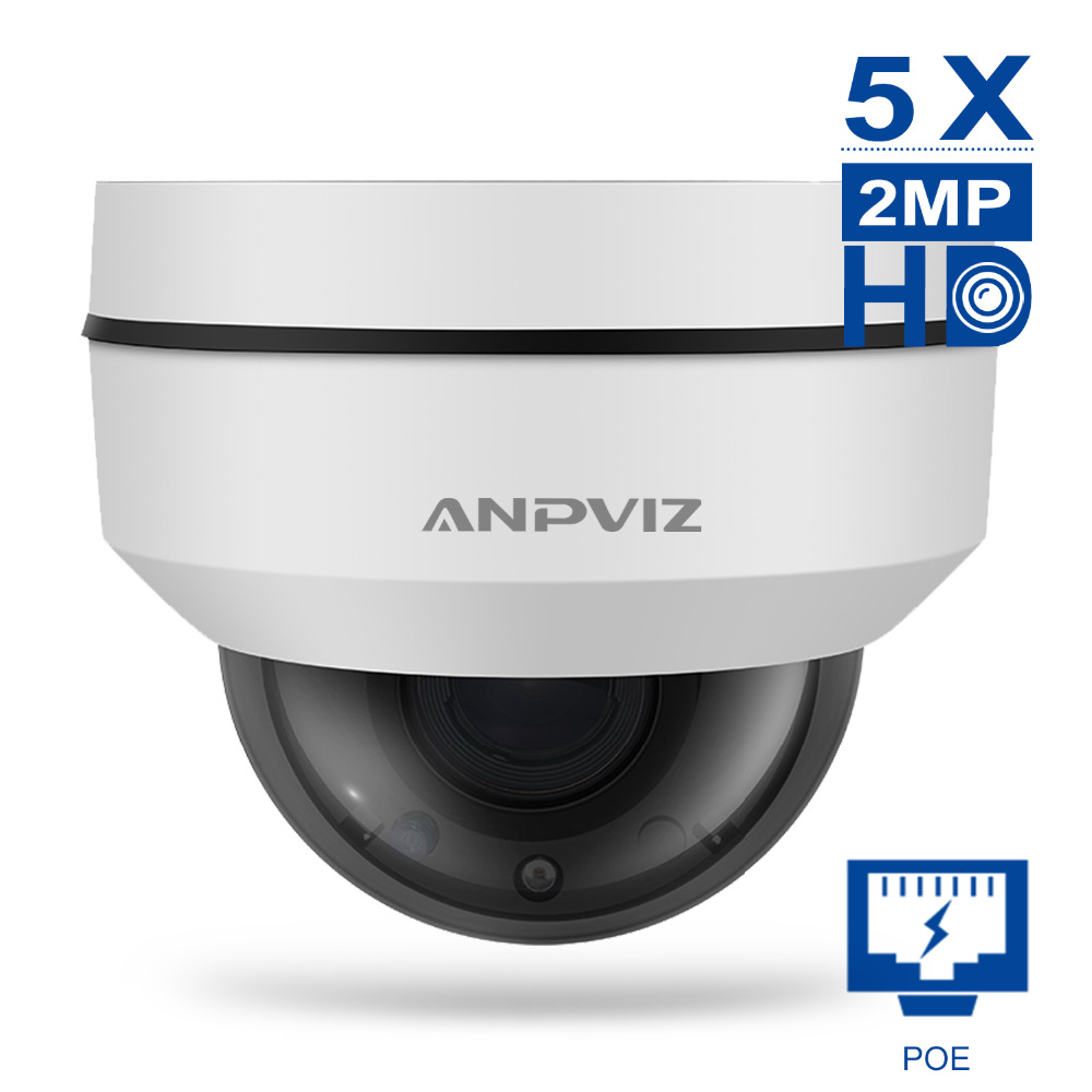 Anpviz Zooming Flexible Camera mini PTZ 2MP 5X Dome IP Camera videcam surveillance Webcam Road alarm system CCTV Webcam Outdoor