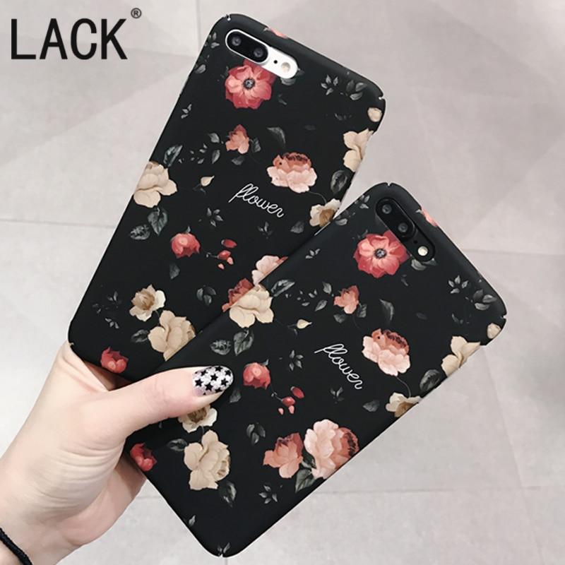 Moda retro rosas flor case para iphone7 lack case para iphone 7 6 6 S Más Lindo