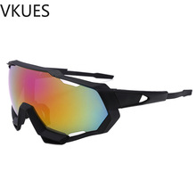 VKUES Sunglasses Men Sport Fashion Designer Sun Glasses Anti Glare Outdoor Goggles Soft Pads Cyclists UV400