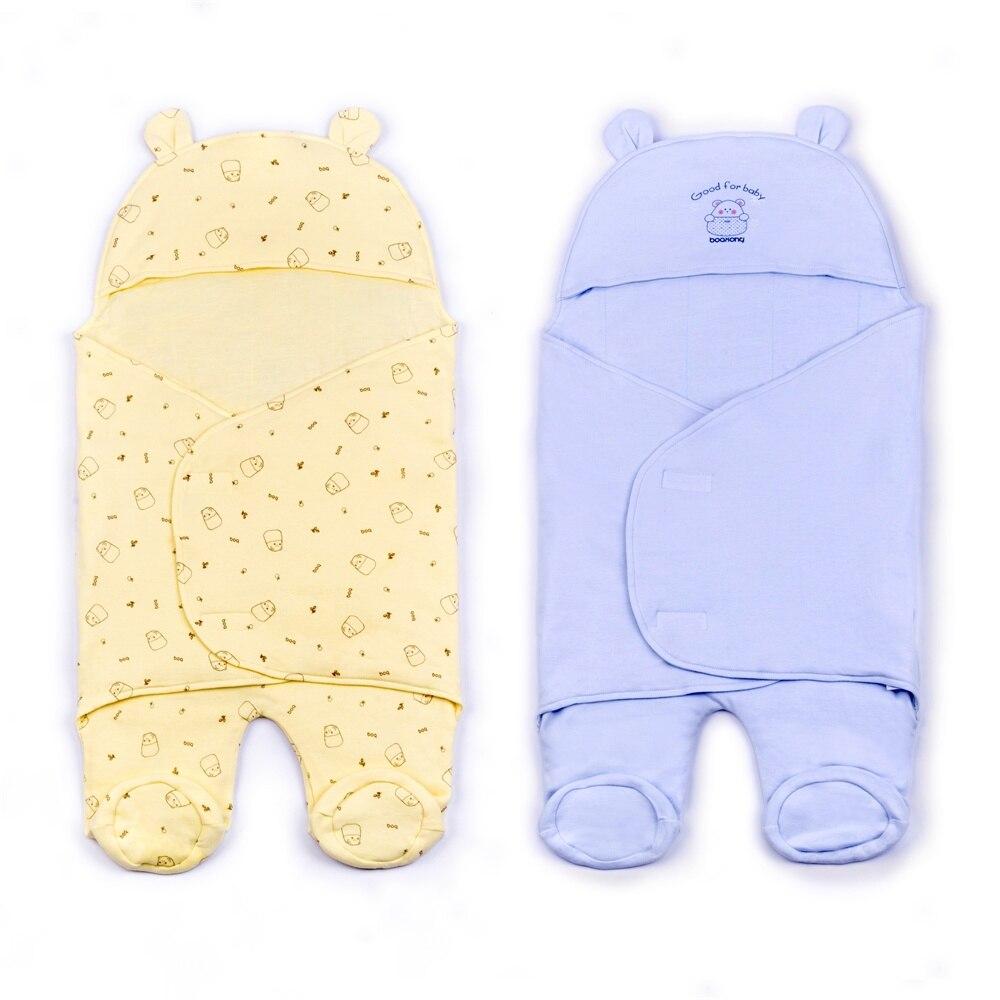Couverture bébé coton nouveau-né bébé lange d'emmaillotage doux hiver bébé literie couverture de réception Manta Bebes sac de couchage 10-12 M