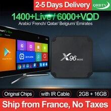 X96 мини IP ТВ Франция коробка 2G 16G S905W Android 7,1 QHD ТВ 1 год IP ТВ подписка X96mini IP ТВ арабский голландский Бельгия Франция IP ТВ