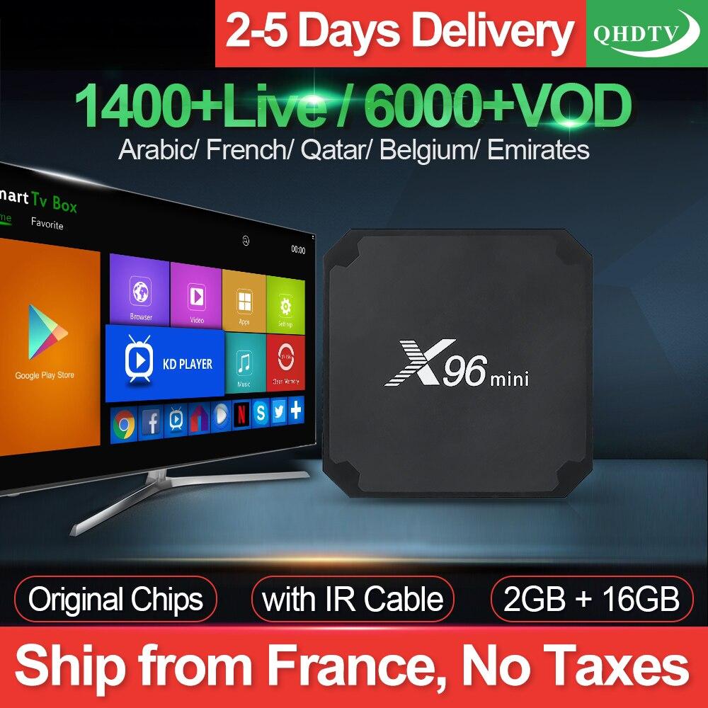 X96 mini IPTV France Box 2G 16G S905W Android 7.1 QHDTV 1 an IPTV abonnement X96mini IPTV arabe néerlandais belgique France IP TV