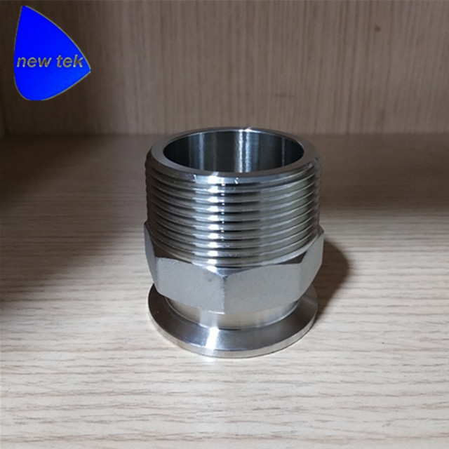 1.5 (DN40) BSPP Male to Tri Clamp Adapter Sanitary SS304 Stainless stainless bspp dn32 dn40 female tri clamp sanitary adapter ss304 stainless steel
