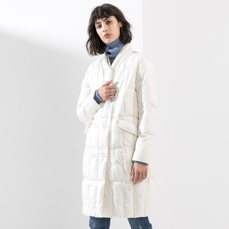 Long white De À Hiver Duvet Boutonnage Outwear 2019 Bas Double Lâche Black Femmes Mode Le Blanc Manteau D'hiver Veste Femelle Vers Parka Canard 0knO8wPX