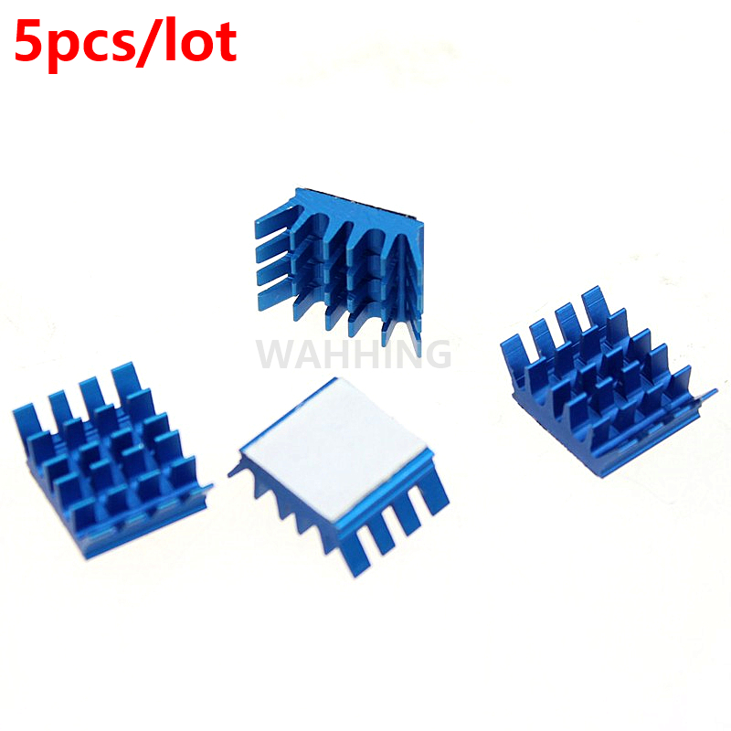 5pcs Computer Cooling Fin Radiator Aluminum Heatsink Heat sink for Electronic Heat dissipation Cooling Pads 13*13*6mm HY1275*5 200pcs lot 0 36kg heatsink 14 14 6 mm fin silver quality radiator