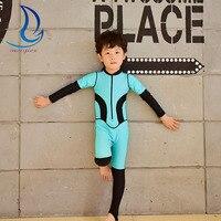 Kids One Piece Diving Suits Girls Boys Swimwear Snorkeling Surfing Wet Suit Long Sleeve Rash Guards