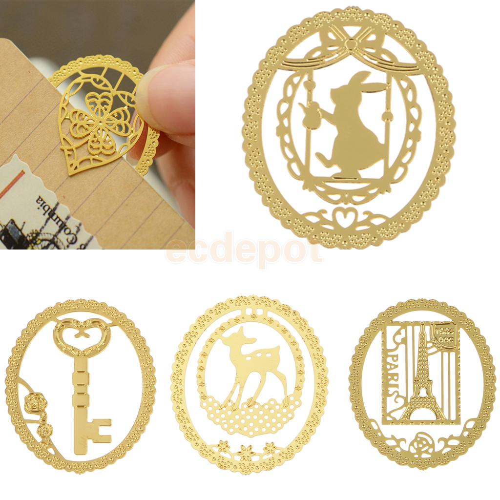 10pcs Wholesale Multi Styles Alloy Bookmarks Office School Label Note Clip Reading Gift  ...