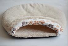 Warm Paw Print Fleece Pet's Bed
