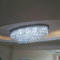 Oval Rectangular LED Engineering Hall Crystal Living Room Ceiling Lamps Arcade Lights Aisle Corridor Hall Led