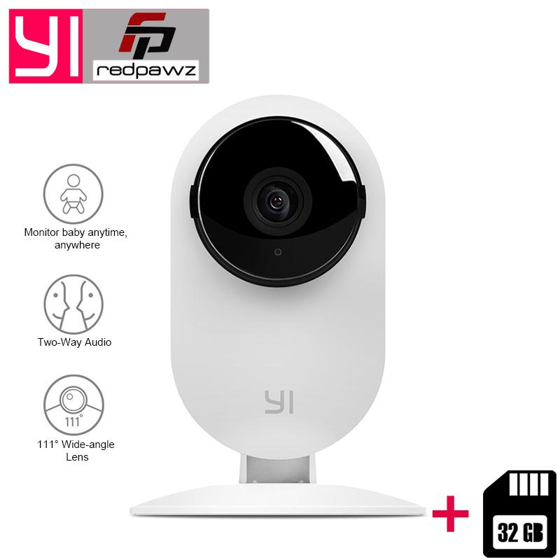 [International Edition] Xiaoyi YI Home Camera HD 720P Xiaoyi IP Camera 110 Wide Angle Two-way Audio Activity Alert Smart Webcam kerui 1080p cloud storage wifi ip camera surveillance camera 2 way audio activity alert smart webcam